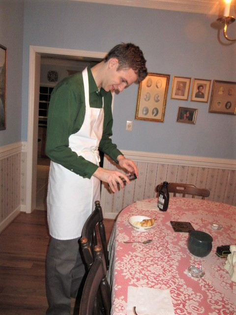 022319 Nate taking pic of poached pears.JPG