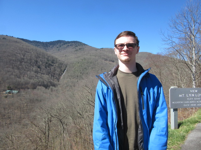 031919 David with Woodfin Cascades to left of his shoulder.JPG