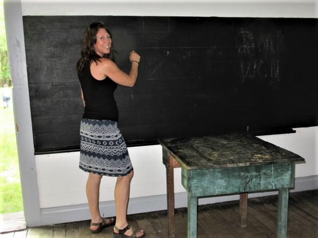 052719 6 Rose teaching in old schoolhouse