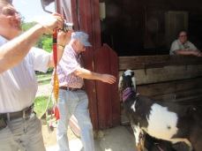 052819 4 Gerhard JC with goat